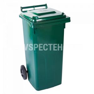 Сміттєвий бак  на колесах 120 л, зелений
