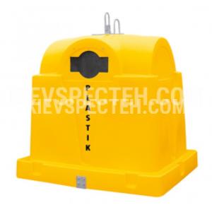 Пластиковий контейнер для роздільного збору сміття, 1.5 м3