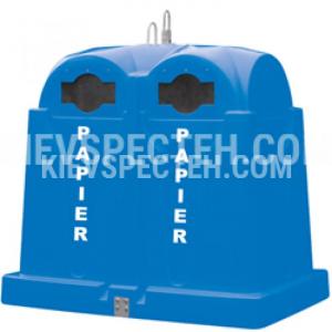 Пластиковый контейнер для раздельного сбора мусора 2.5 м3